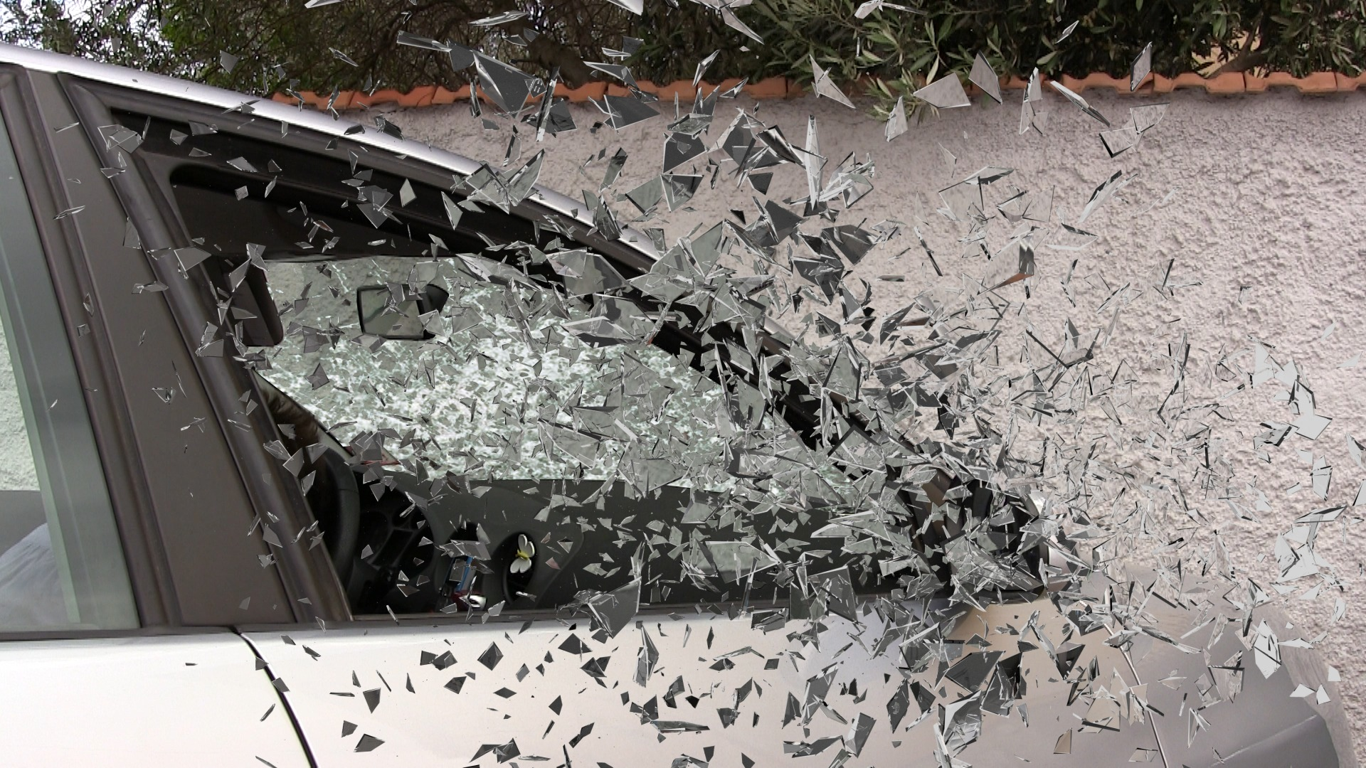 Shattering Glass in Car Accident